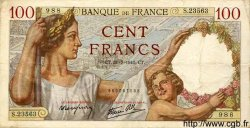 100 Francs SULLY FRANCE  1941 F.26.56 TTB