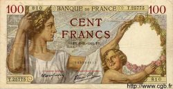 100 Francs SULLY FRANCE  1941 F.26.60 TTB