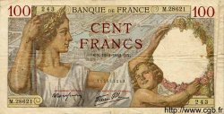 100 Francs SULLY FRANCE  1942 F.26.66 TB