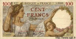 100 Francs SULLY FRANCE  1942 F.26.67 TTB