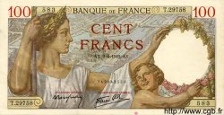 100 Francs SULLY FRANCE  1942 F.26.69 SUP