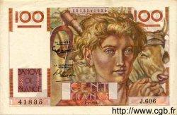 100 Francs JEUNE PAYSAN FRANCE  1954 F.28.43a SUP