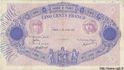 500 Francs BLEU ET ROSE FRANCE  1917 F.30.23 TB