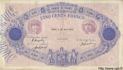 500 Francs BLEU ET ROSE FRANCE  1920 F.30.24 TB+
