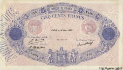 500 Francs BLEU ET ROSE FRANCE  1927 F.30.30 pr.TTB