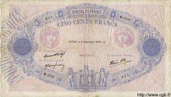 500 Francs BLEU ET ROSE modifié FRANCE  1937 F.31.05 pr.TB