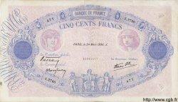 500 Francs BLEU ET ROSE modifié FRANCE  1938 F.31.06 TB+