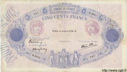 500 Francs BLEU ET ROSE modifié FRANCE  1938 F.31.08 TB