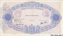 500 Francs BLEU ET ROSE modifié FRANCE  1938 F.31.21 TTB