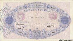 500 Francs BLEU ET ROSE modifié FRANCE  1939 F.31.25 TTB+
