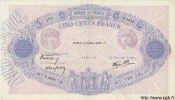 500 Francs BLEU ET ROSE modifié FRANCE  1939 F.31.26 TTB