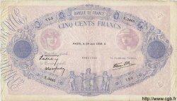 500 Francs BLEU ET ROSE modifié FRANCE  1939 F.31.35 TB+