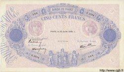 500 Francs BLEU ET ROSE modifié FRANCE  1939 F.31.37 TTB+