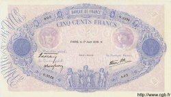 500 Francs BLEU ET ROSE modifié FRANCE  1939 F.31.38 TTB+