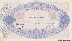 500 Francs BLEU ET ROSE modifié FRANCE  1939 F.31.46 TB+