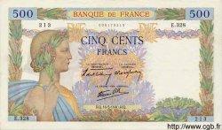 500 Francs LA PAIX FRANCE  1940 F.32.02 TTB+ à SUP