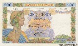 500 Francs LA PAIX FRANCE  1940 F.32.09 TTB+