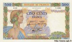 500 Francs LA PAIX FRANCE  1941 F.32.14 NEUF