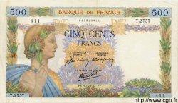 500 Francs LA PAIX FRANCE  1941 F.32.15 TTB