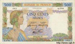 500 Francs LA PAIX FRANCE  1941 F.32.16 TB à TTB