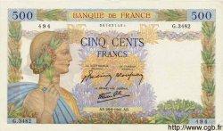 500 Francs LA PAIX FRANCE  1941 F.32.21 TTB+