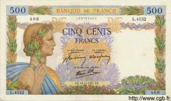 500 Francs LA PAIX FRANCE  1941 F.32.25 SUP à SPL