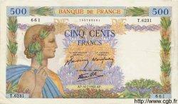 500 Francs LA PAIX FRANCE  1942 F.32.37 TTB à SUP