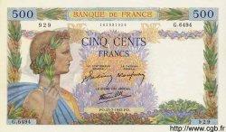 500 Francs LA PAIX FRANCE  1942 F.32.38 pr.NEUF