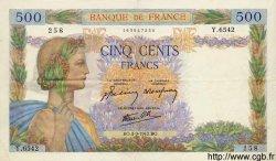 500 Francs LA PAIX FRANCE  1942 F.32.39 SUP