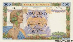 500 Francs LA PAIX FRANCE  1942 F.32.40 SUP