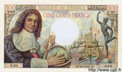 500 Francs  COLBERT FRANCE  1943 F.33.00s1 pr.NEUF
