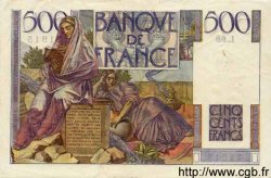 500 Francs CHATEAUBRIAND FRANCE  1946 F.34.04 TTB+