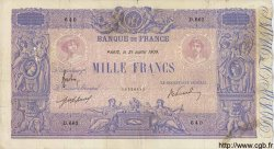 1000 Francs BLEU ET ROSE FRANCE  1909 F.36.23 TB