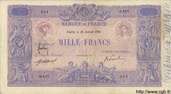 1000 Francs BLEU ET ROSE FRANCE  1910 F.36.24 TB