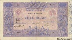 1000 Francs BLEU ET ROSE FRANCE  1910 F.36.24 TB