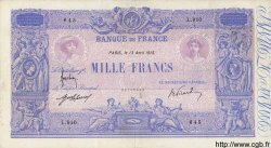 1000 Francs BLEU ET ROSE FRANCE  1915 F.36.29 TB+ à TTB