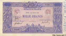 1000 Francs BLEU ET ROSE FRANCE  1919 F.36.33 TTB+