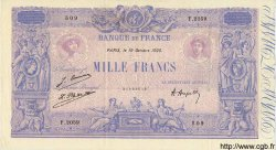 1000 Francs BLEU ET ROSE FRANCE  1925 F.36.42 SUP+