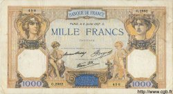 1000 Francs CÉRÈS ET MERCURE type modifié FRANCE  1937 F.38.01 pr.TTB