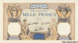 1000 Francs CÉRÈS ET MERCURE type modifié FRANCE  1937 F.38.04 SUP