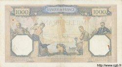 1000 Francs CÉRÈS ET MERCURE type modifié FRANCE  1937 F.38.04 TTB