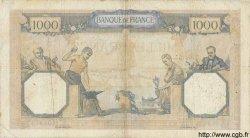 1000 Francs CÉRÈS ET MERCURE type modifié FRANCE  1937 F.38.07 pr.TB