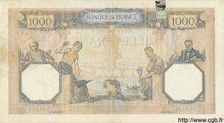 1000 Francs CÉRÈS ET MERCURE type modifié FRANCE  1938 F.38.13 TB+