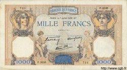 1000 Francs CÉRÈS ET MERCURE type modifié FRANCE  1938 F.38.22 TB+