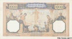 1000 Francs CÉRÈS ET MERCURE type modifié FRANCE  1938 F.38.30 TTB+