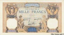 1000 Francs CÉRÈS ET MERCURE type modifié FRANCE  1939 F.38.34 SPL