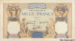 1000 Francs CÉRÈS ET MERCURE type modifié FRANCE  1940 F.38.42 TTB