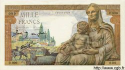 1000 Francs DÉESSE DÉMÉTER FRANCE  1942 F.40.00s1 pr.NEUF