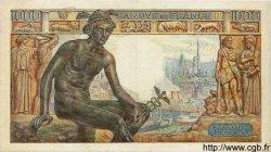 1000 Francs DÉESSE DÉMÉTER FRANCE  1943 F.40.16 TTB+
