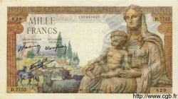 1000 Francs DÉESSE DÉMÉTER FRANCE  1943 F.40.33 TTB+ à SUP